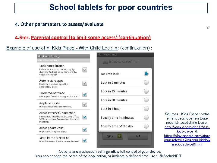 School tablets for poor countries 4. Other parameters to assess/evaluate 37 4. 6 ter.