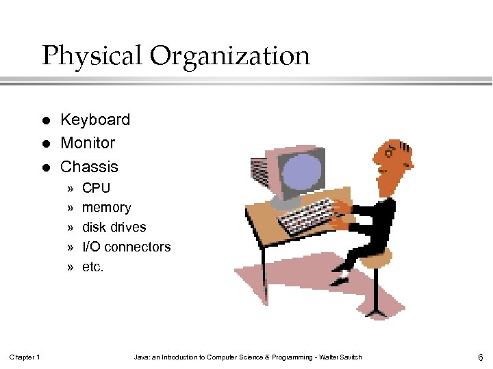 Physical Organization l l l Keyboard Monitor Chassis » » » Chapter 1 CPU