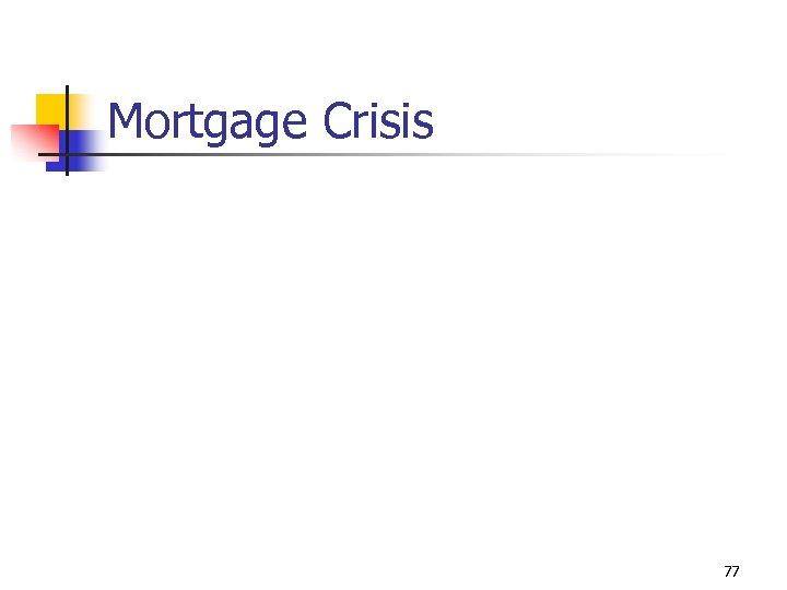 Mortgage Crisis 77