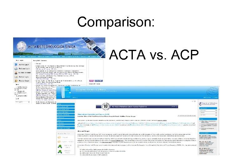 Comparison: ACTA vs. ACP