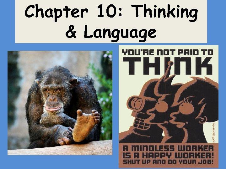 Chapter 10: Thinking & Language