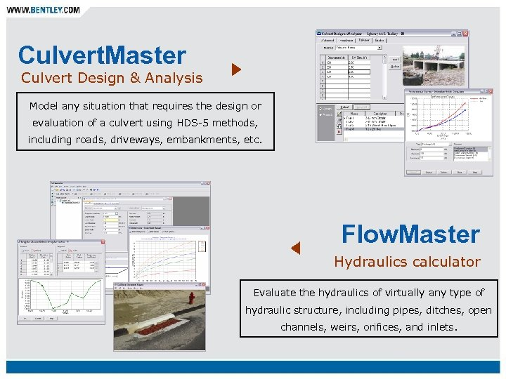 Culvert. Master Culvert Design & Analysis Model any situation that requires the design or