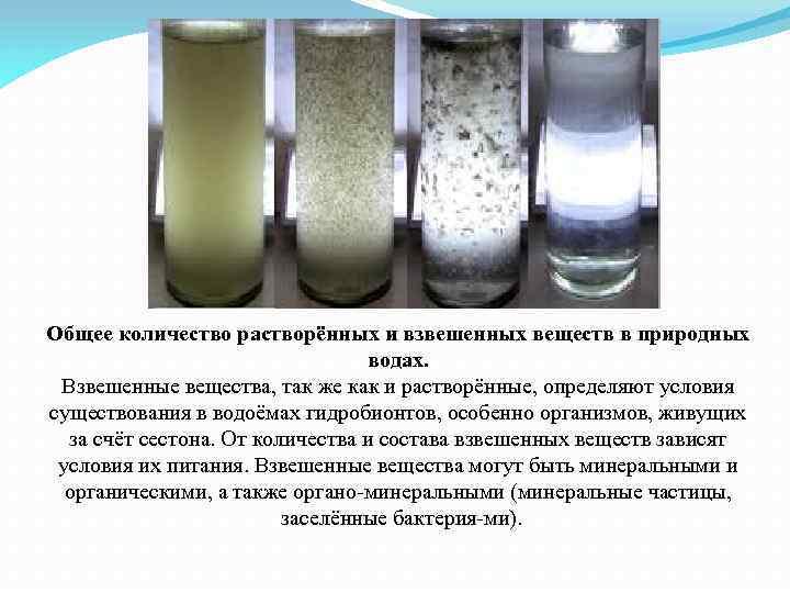 Определение содержания взвешенных частиц производится весовым методом.