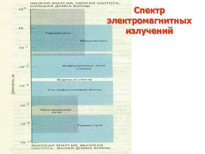 Спектр электромагнитных излучений