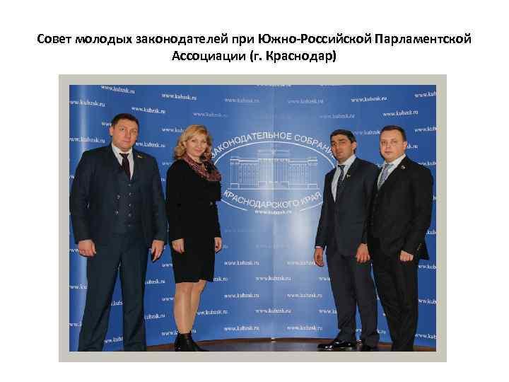Совет молодых законодателей при Южно-Российской Парламентской Ассоциации (г. Краснодар)