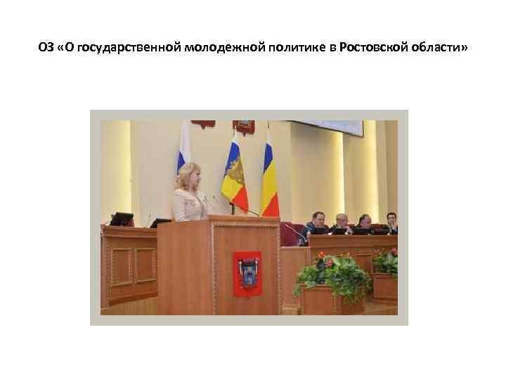 ОЗ «О государственной молодежной политике в Ростовской области»
