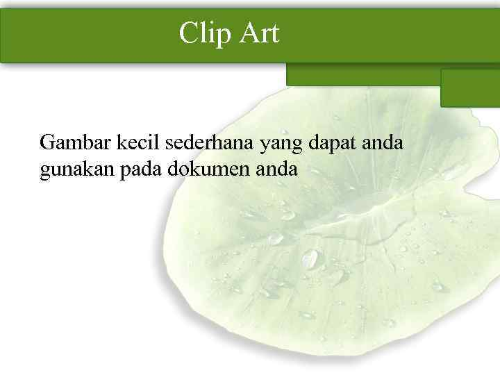 Clip Art Gambar kecil sederhana yang dapat anda gunakan pada dokumen anda