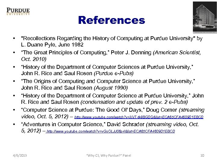 References • •