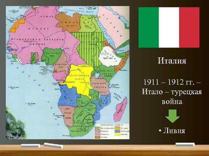 Италия 1911 – 1912 гг. – Итало – турецкая война • Ливия