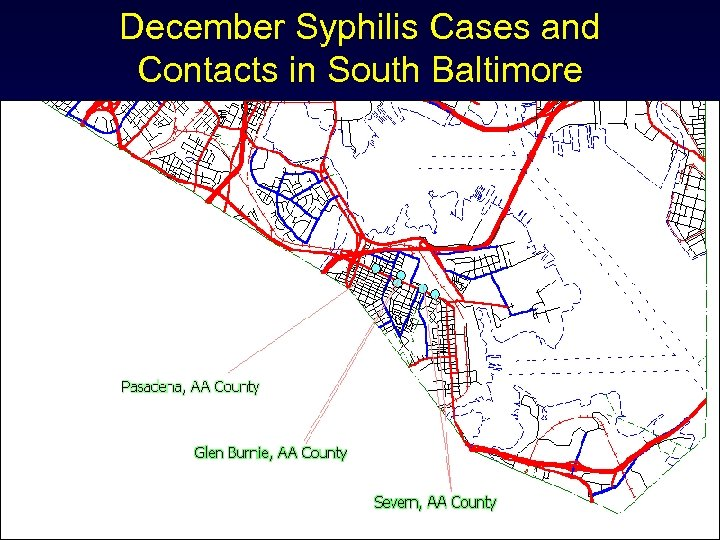 December Syphilis Cases and Contacts in South Baltimore