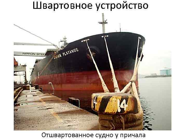 Швартовное устройство Отшвартованное судно у причала