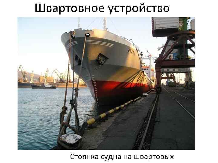 Швартовное устройство Стоянка судна на швартовых
