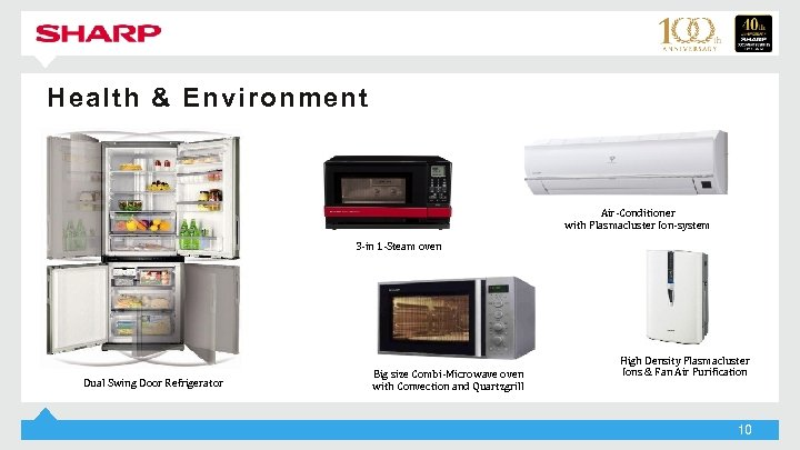 Health & Environment Air-Conditioner with Plasmacluster Ion-system 3 -in 1 -Steam oven Dual Swing