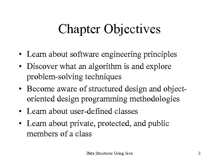 Chapter 1 Software Engineering Principles And Java Classes