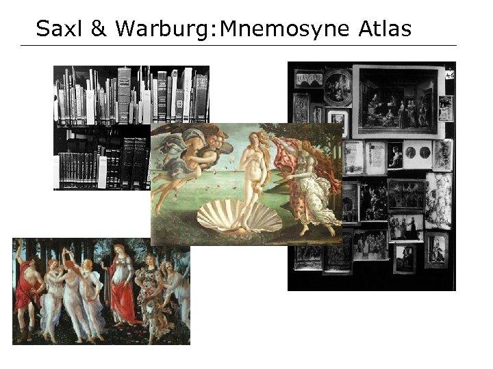 Saxl & Warburg: Mnemosyne Atlas