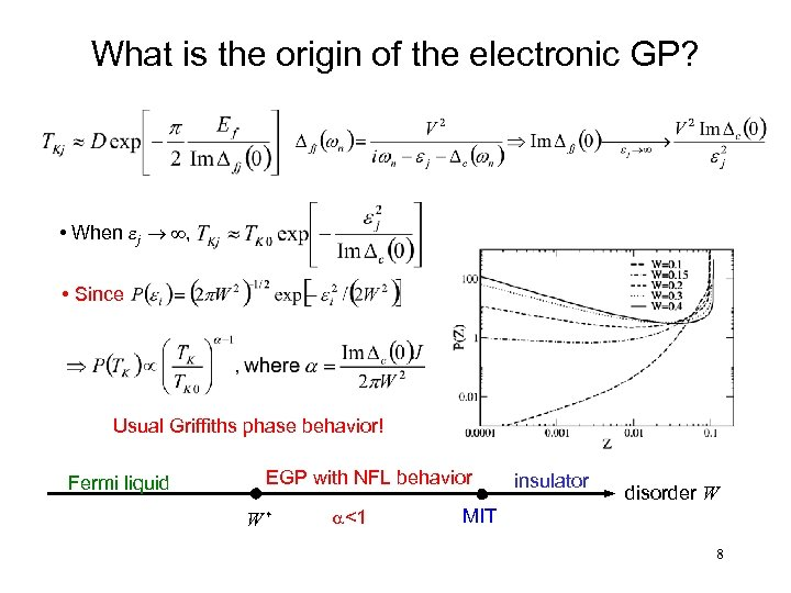 What is the origin of the electronic GP? • When ej ® ¥, •