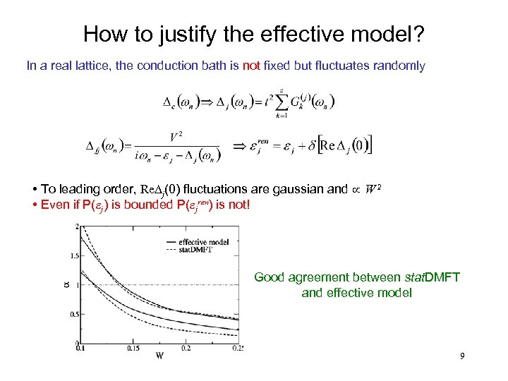 How to justify the effective model? In a real lattice, the conduction bath is