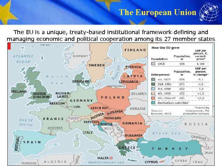The European Union The EU is a unique, treaty-based institutional framework defining and managing