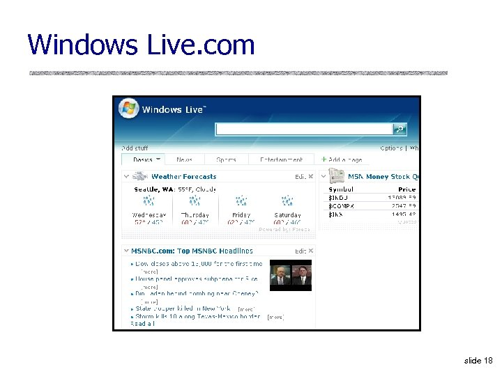 Windows Live. com slide 18