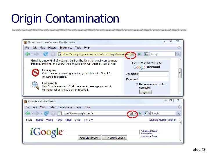 Origin Contamination slide 48