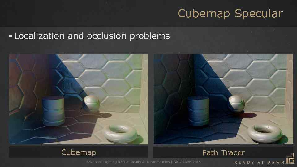 Cubemap Specular § Localization and occlusion problems Cubemap Path Tracer