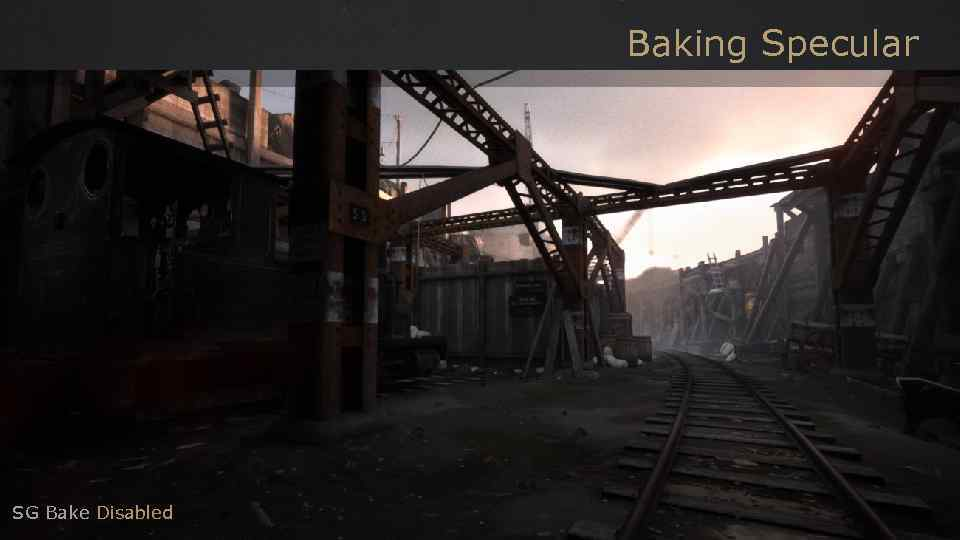 Baking Specular SG Bake Disabled