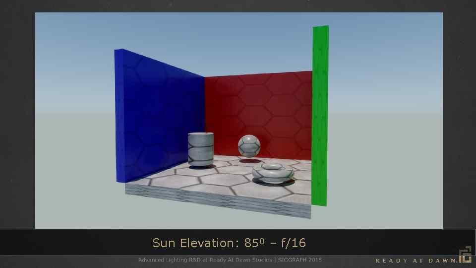 Sun Elevation: 85⁰ – f/16