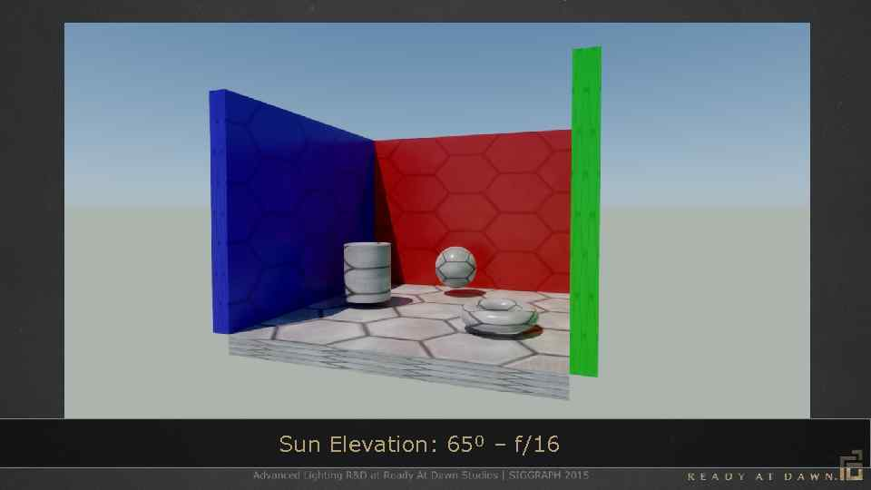 Sun Elevation: 65⁰ – f/16