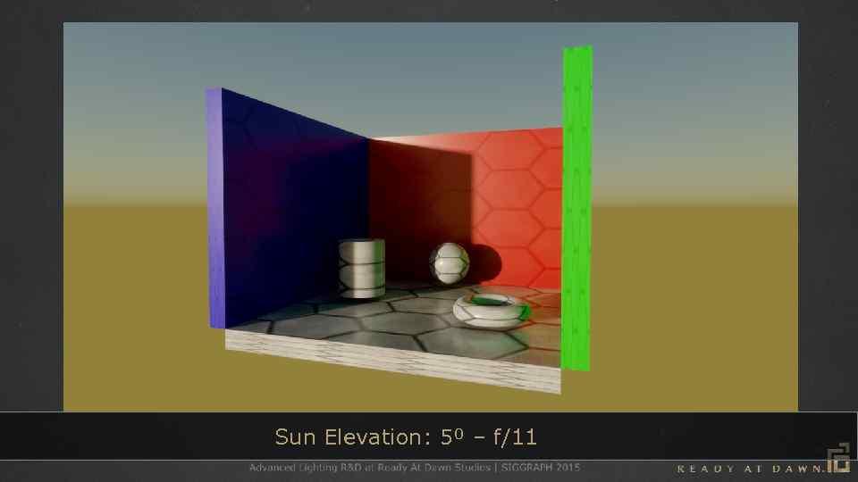 Sun Elevation: 5⁰ – f/11