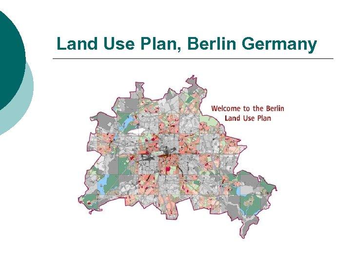 Land Use Plan, Berlin Germany