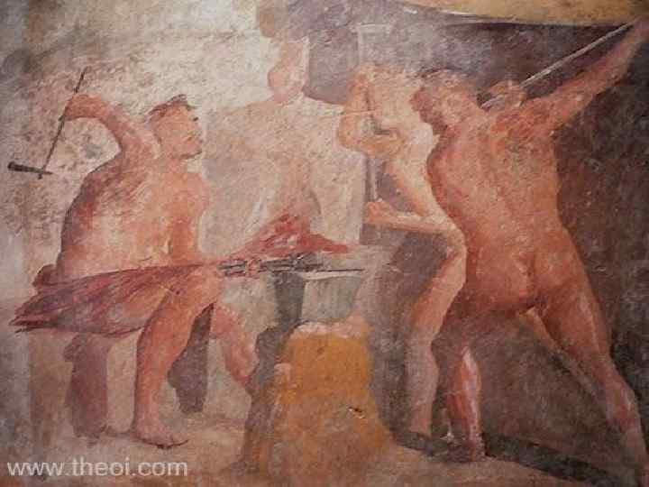 Вулкан • С государственным культом огня и очага связано также почитание римлянами бога Вулкана.