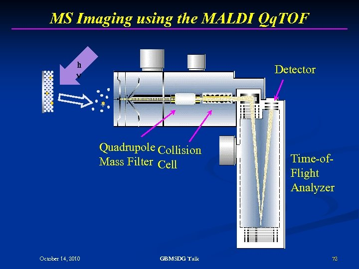 MS Imaging using the MALDI Qq. TOF h Detector + Quadrupole Collision Mass Filter