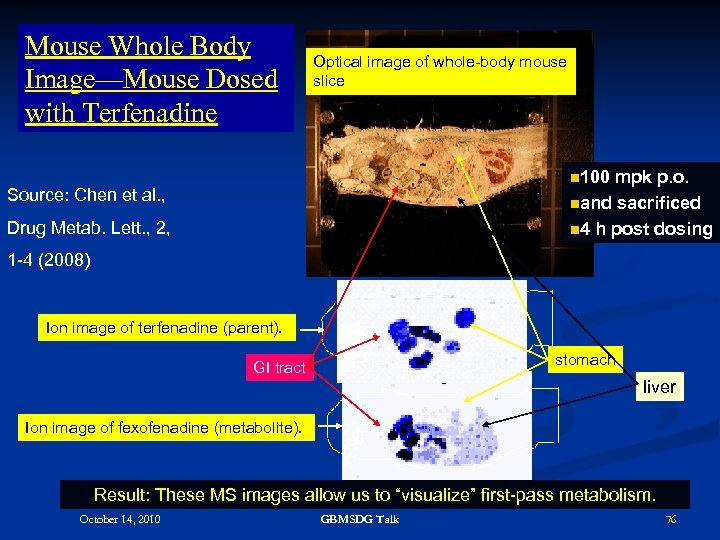 Mouse Whole Body Image—Mouse Dosed with Terfenadine Optical image of whole-body mouse slice n