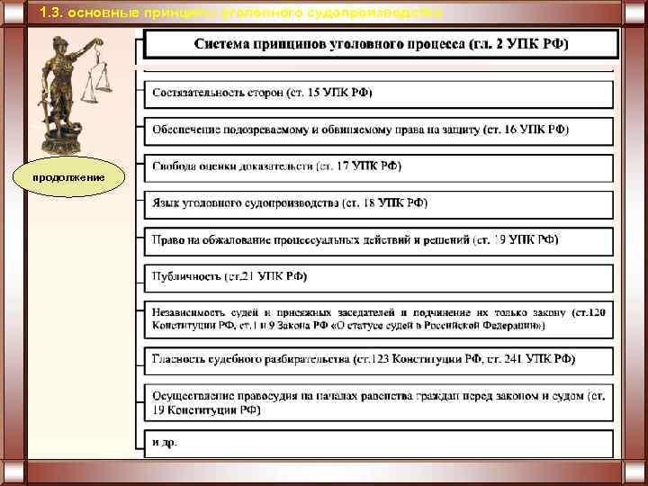 1. 3. основные принципы уголовного судопроизводства продолжение