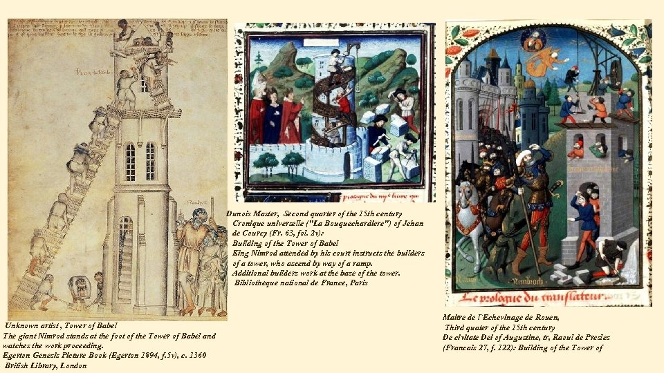 Dunois Master, Second quarter of the 15 th century Cronique universelle (