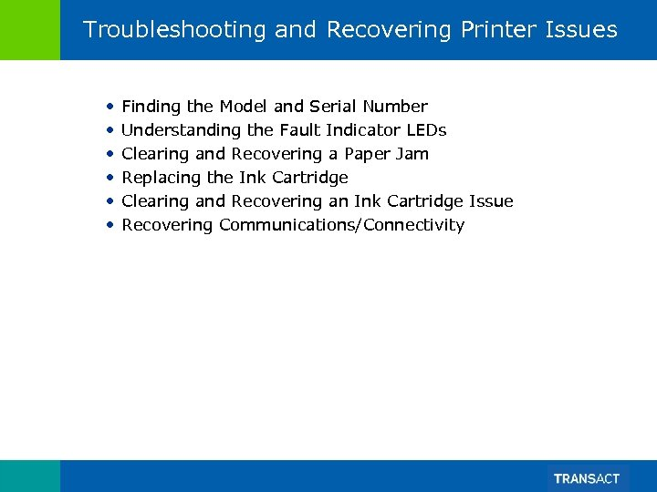Troubleshooting and Recovering Printer Issues • • • Finding the Model and Serial Number