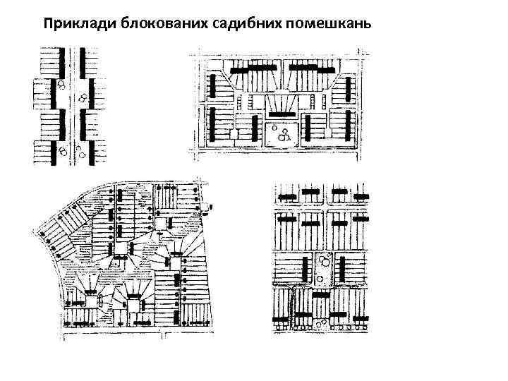 Приклади блокованих садибних помешкань