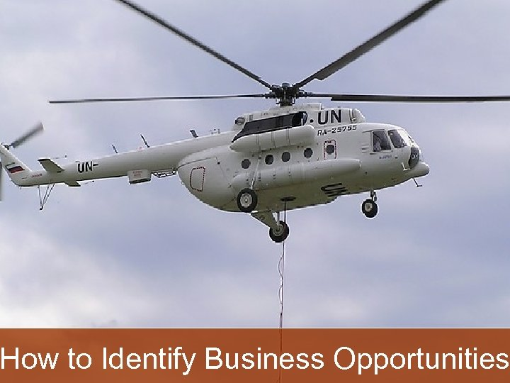 How to Identify Business Opportunities