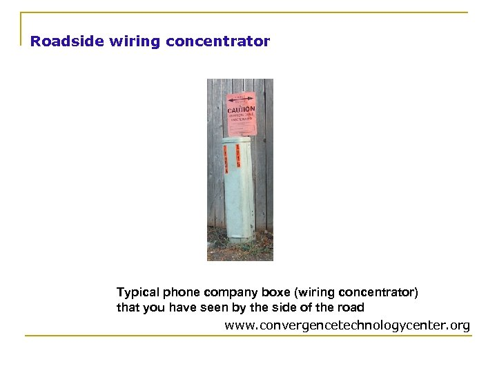 Roadside wiring concentrator Typical phone company boxe (wiring concentrator) that you have seen by