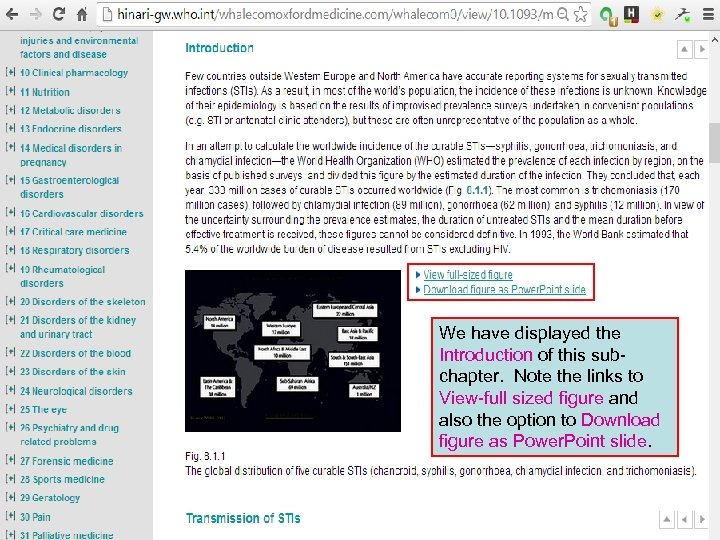 We have displayed the Introduction of this subchapter. Note the links to View-full sized