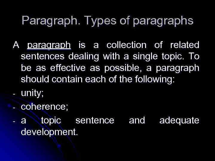 paragraph of non prose materials A paragraph is the smallest unit of prose composition it may be defined as a group of sentences relating to a single topic every form of prose composition (eg letters, essays, stories) should be divided into paragraphs a paragraph may be long or short there are no rules regarding the size of.