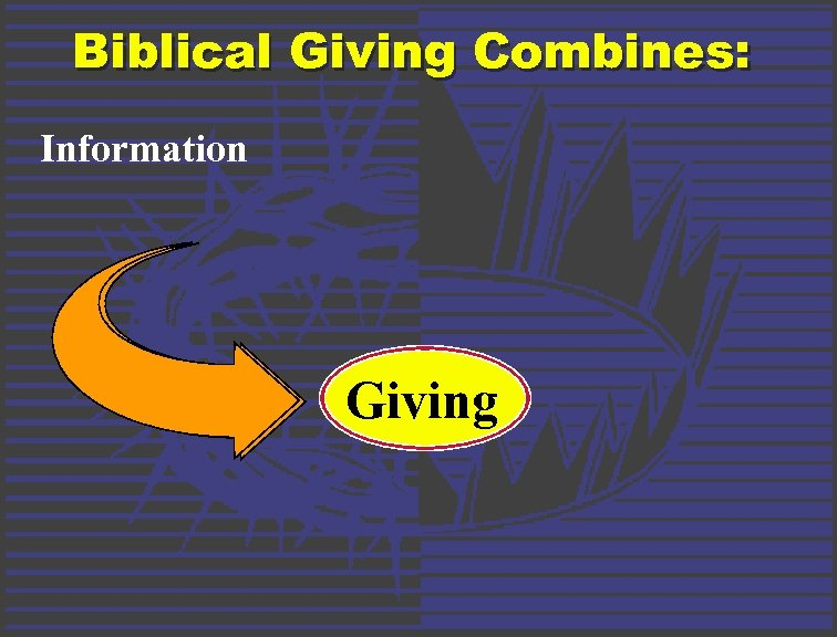 Biblical Giving Combines: Information Giving