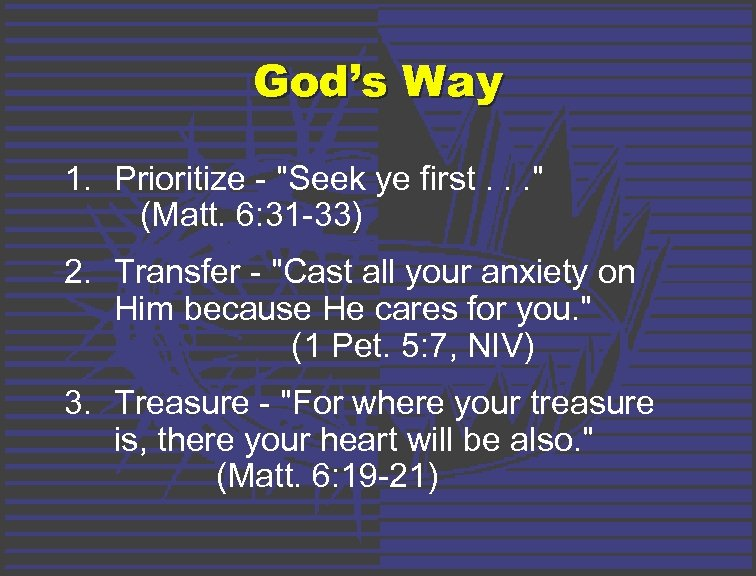 God's Way 1. Prioritize -