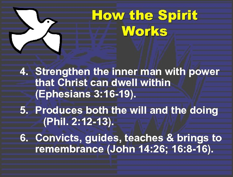 How the Spirit Works 4. Strengthen the inner man with power that Christ can