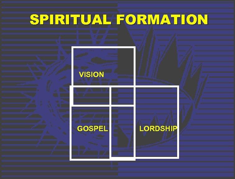 SPIRITUAL FORMATION VISION GOSPEL LORDSHIP