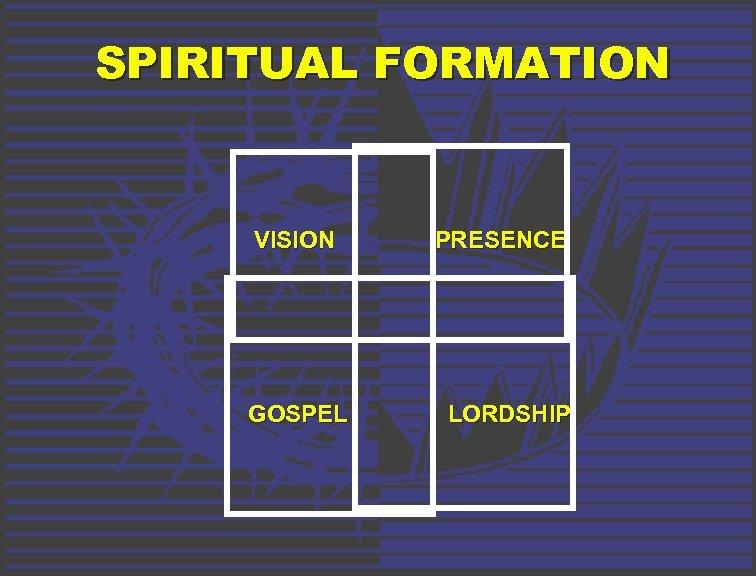 SPIRITUAL FORMATION VISION GOSPEL PRESENCE LORDSHIP