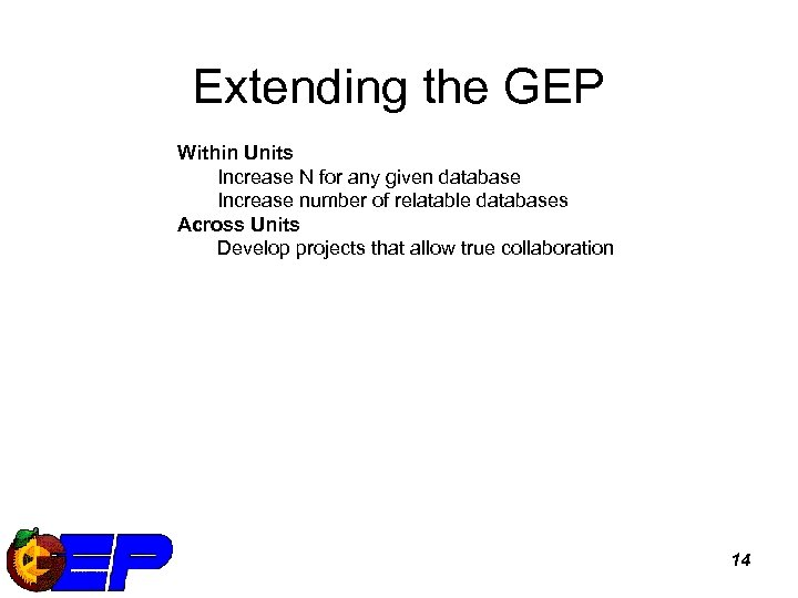 Extending the GEP Within Units Increase N for any given database Increase number of
