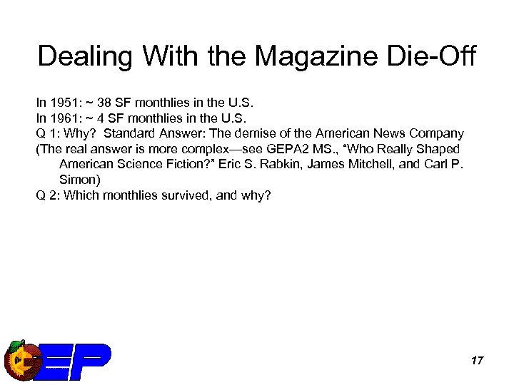 Dealing With the Magazine Die-Off In 1951: ~ 38 SF monthlies in the U.