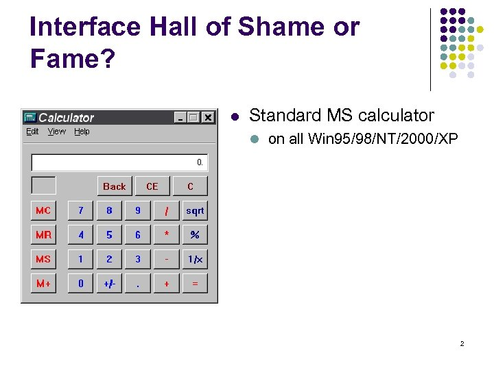Heuristic Evaluation 1 Interface Hall Of Shame