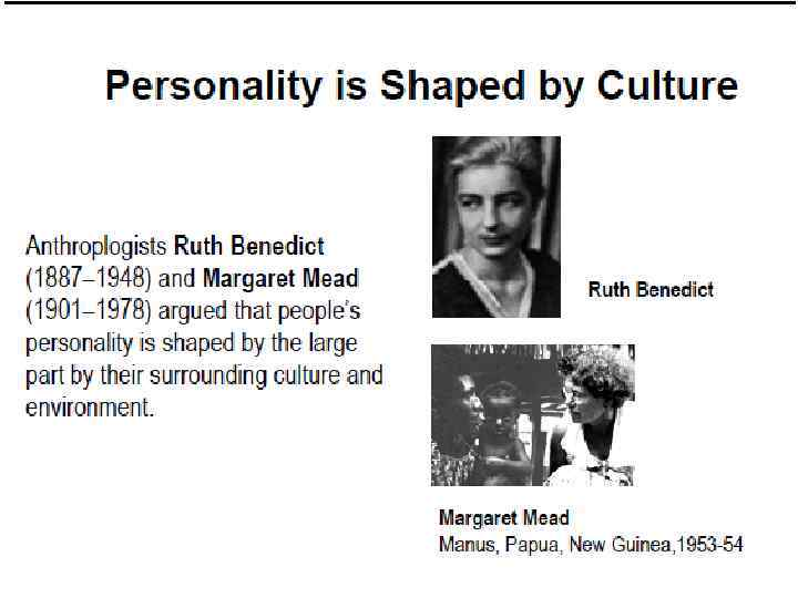 does culture influence personality